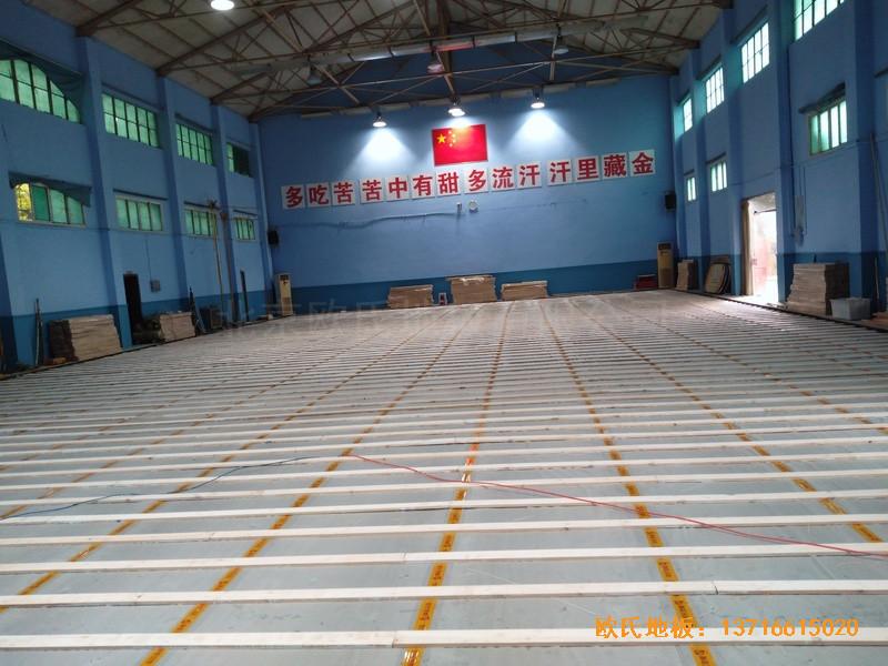 湖北武汉新华路体育场羽毛球馆体育地板铺装案例1