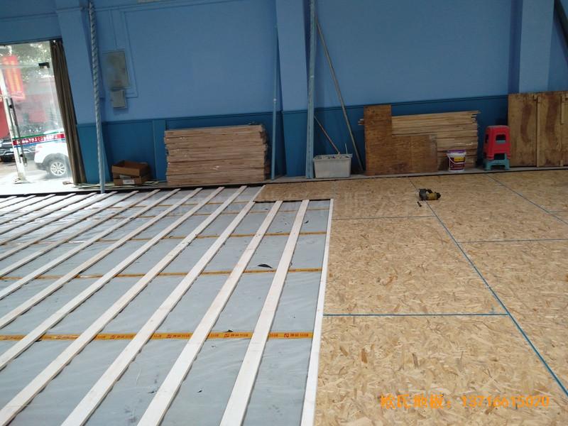 湖北武汉新华路体育场羽毛球馆体育地板铺装案例2