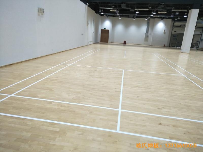 上海铺东宁桥路669号体育馆体育木地板铺装案例