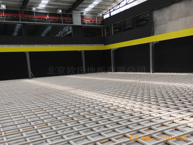 南阳骄阳体育篮球俱乐部体育地板铺装案例