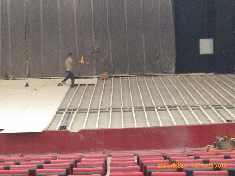 唐山师范学院舞台运动木地板安装案例