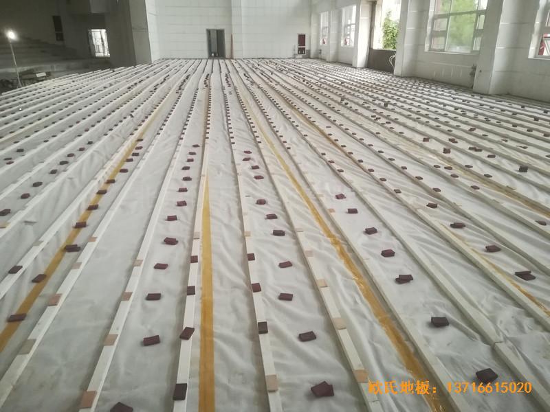 宁夏银川试验中学舞台体育木地板安装案例