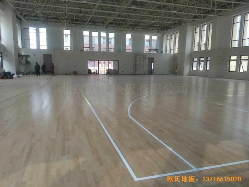 山东济南唐冶城篮球馆体育木地板安装案例
