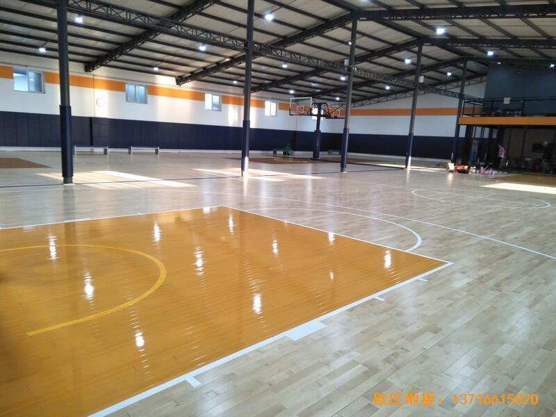 北京game on篮球馆体育地板安装案例