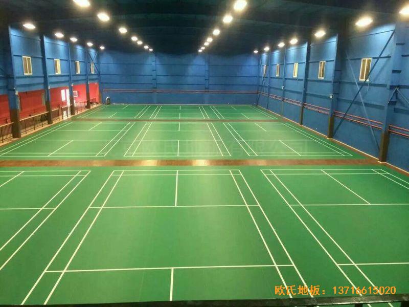 北京莲石羽羽毛球俱乐部运动地板铺设案例