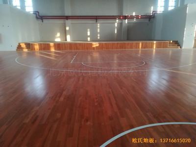江苏连云港徐圩小学篮球馆体育木地板铺装案例