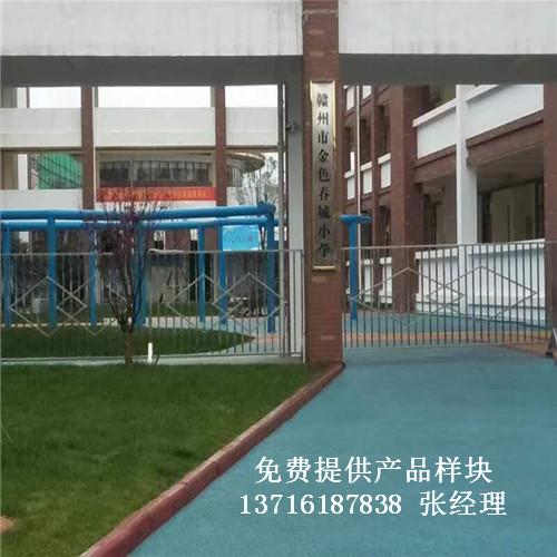 江西赣州市榕江新区金色春城小学篮球场馆体育运动实木地板案例